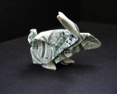 origami with dollar bills
