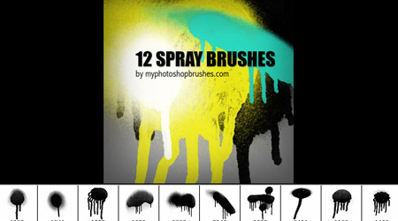 Photoshop Spray Brushes