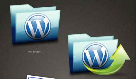 Glossy WordPress icons