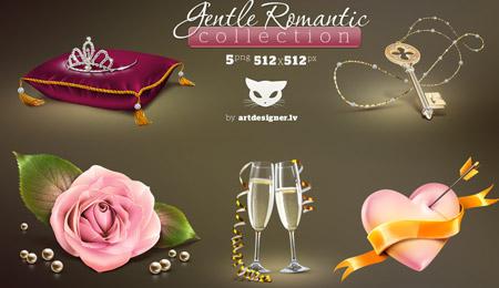 Gentle Romantic icons