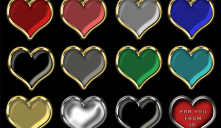 Heart PNG Buttons