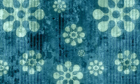 flower grunge blue pattern