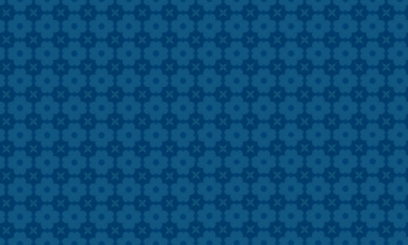 cross square blue patter