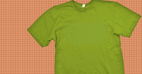 green  t-shirt template