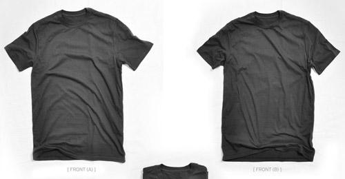 blank t-shirt black