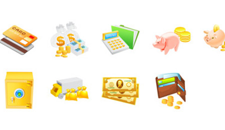 money ecommerce icons