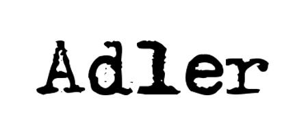 adler typewriter font