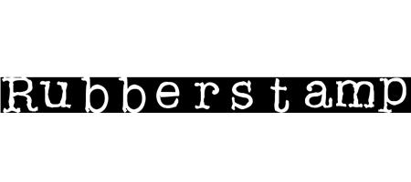 rubber stamp typewriter font