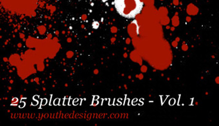 25 splatter brushes for photoshop volume 1