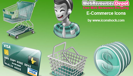 collection of  ecommerce icon