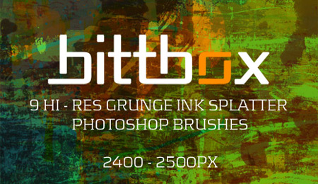 free high-res grunge ink splatter brushes