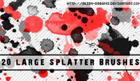 arge splatter brushes