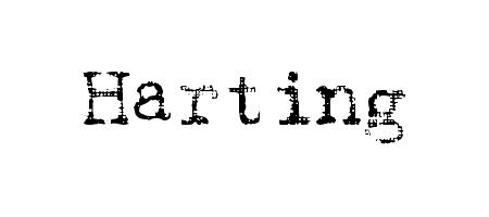 harting typewriter font