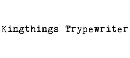 king typewriter font