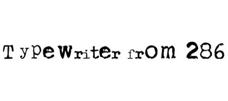 typewriter from