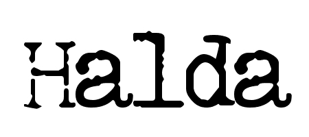 halda typewriter font