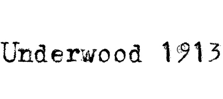 underwood typewriter font