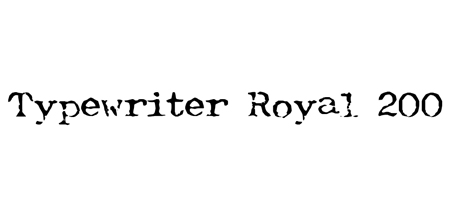 typewriter royal font