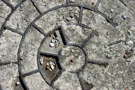 circle concrete texture
