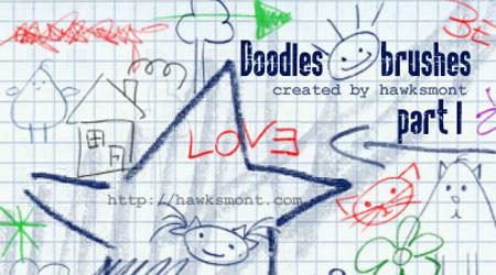 crayon doodle brush