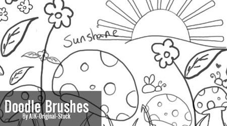 mushroom doodle brush