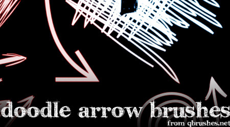 arrows doodle brush
