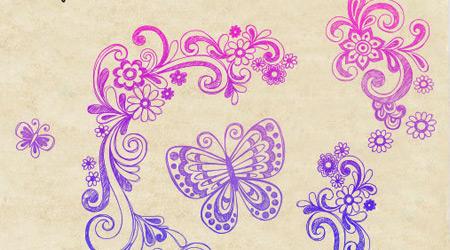 swirl doodle brush