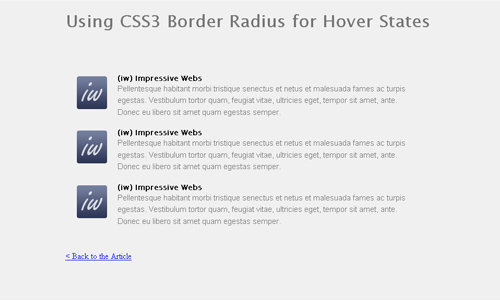 border radius hover
