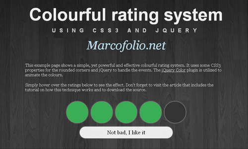 colourful rating