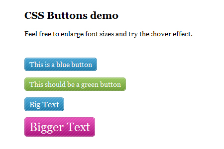 scalable css buttons