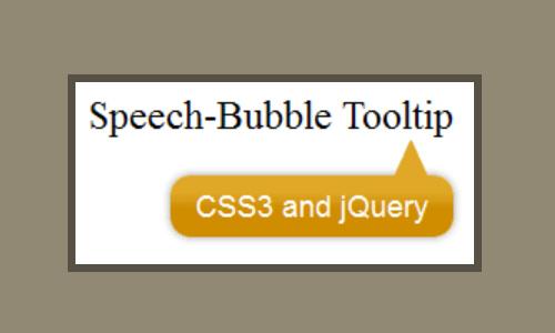 speech bubble tooltip
