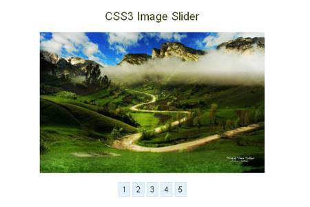 how to create an image slider using jquery and css3