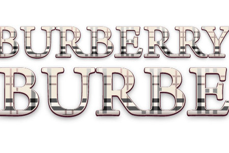 Dynamic Burberry Text