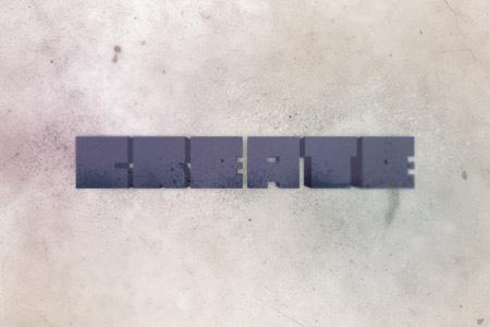 Textured Grungy 3D Type Design