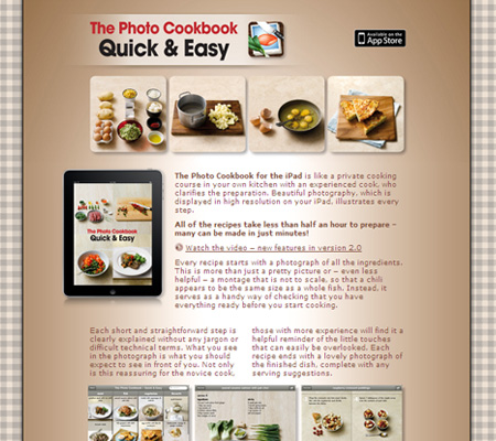 photo cookbook for the iPad