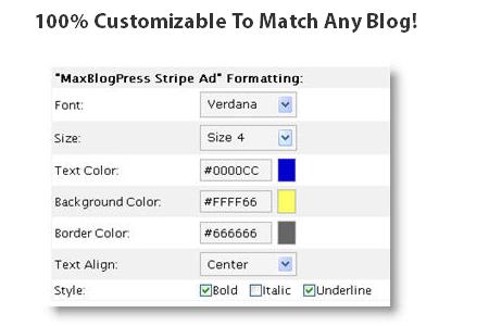 MaxBlogPress Stripe Ad