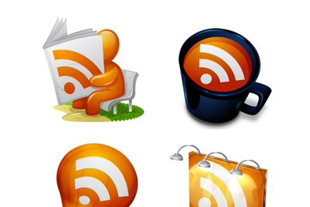 gorgeous rss feed icons