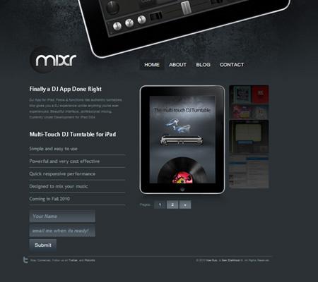 mixr iPad DJ app
