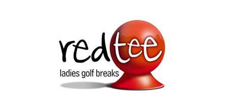red tee ladies golf logo