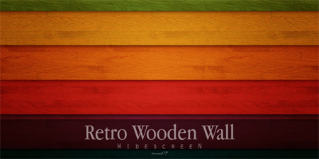 Retro Wooden Wall Wallpaper