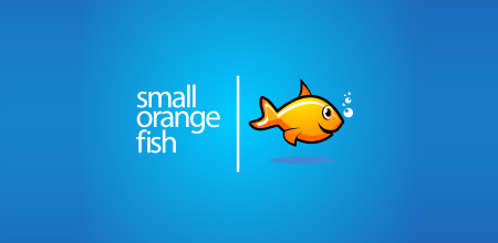 small orange fish logo