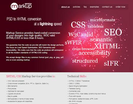 markup service