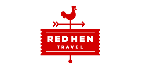 red hen travel logo