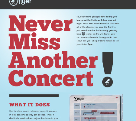 flyer-Concert Discovery Application