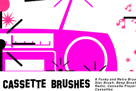 Retro Cassette Brushes