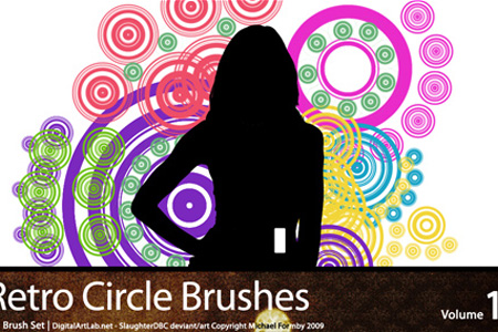 Retro Circles Brushes