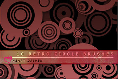 Retro Circle Brushes: HeartDriven