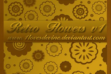 Retro Flowers v1