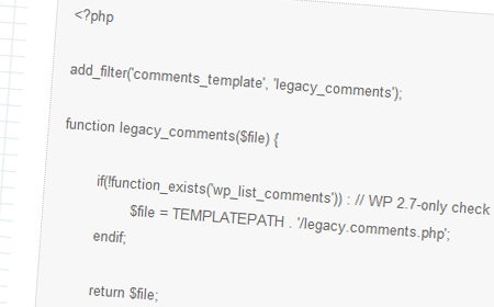 Making you theme's comments compatible with WordPress 2.7