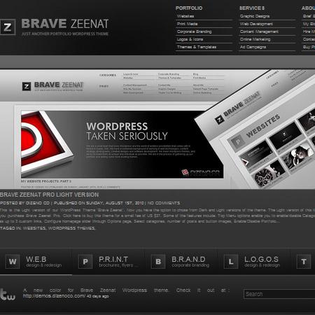 Brave Zeenat Free Portfolio WordPress Theme